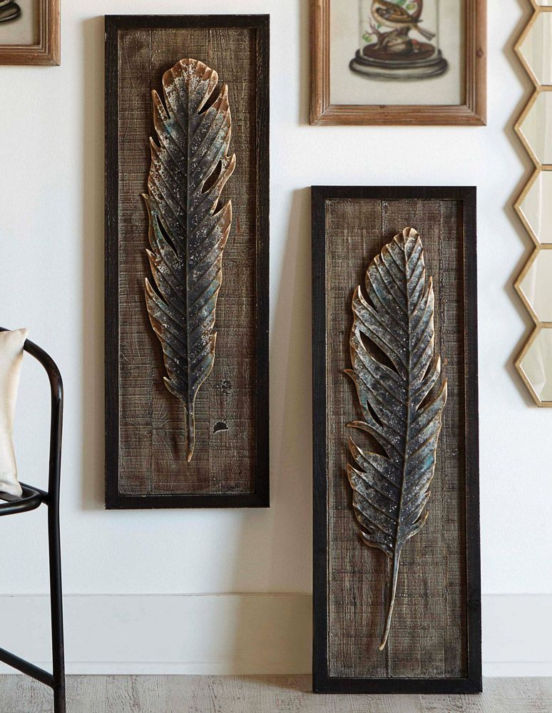 Framed Feather Wall Art (Set of 2)