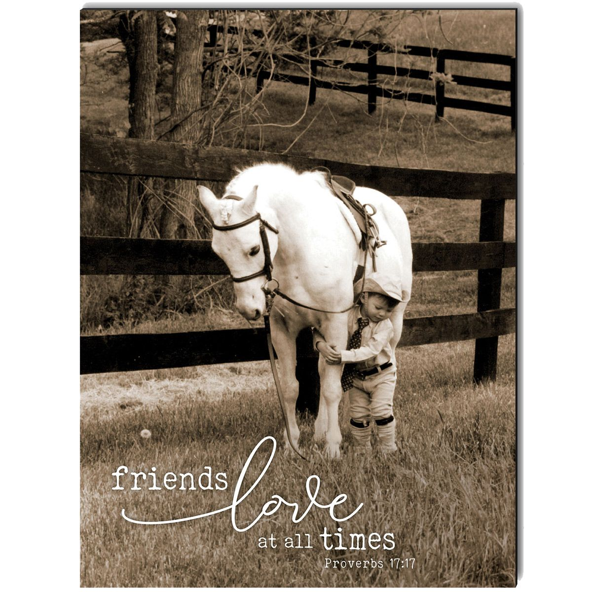 Friends Love at All Times Wrapped Canvas Art