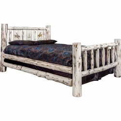 Frontier Bed with Laser-Engraved Bronc Design