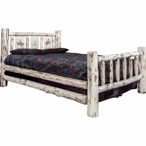 Frontier Bed with Laser-Engraved Bronc Design - Cal King