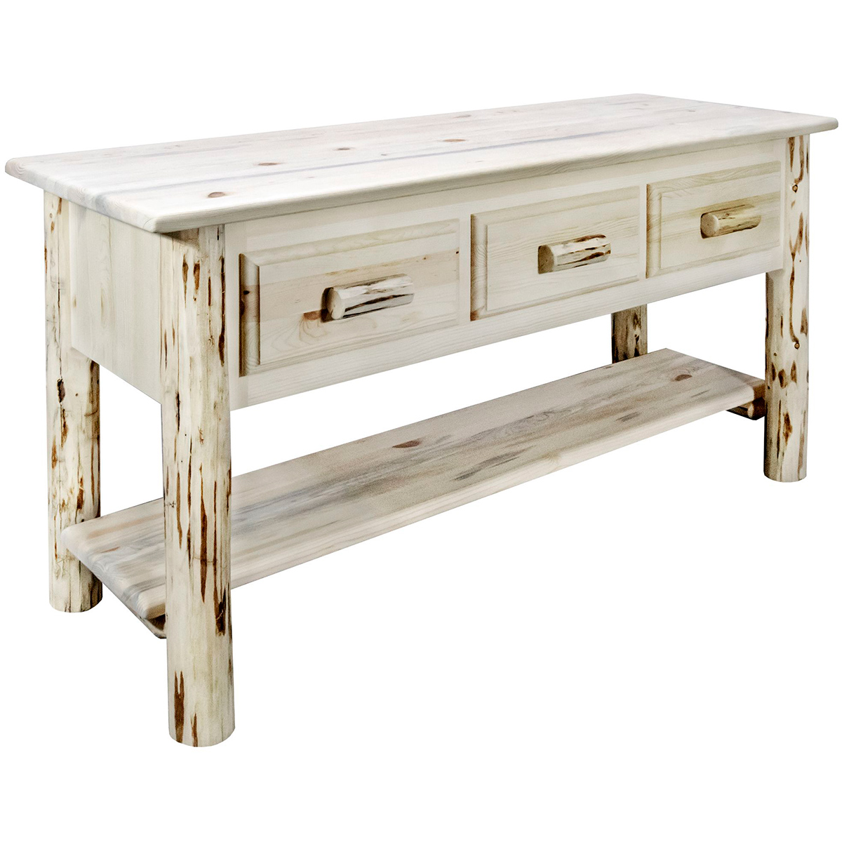 Frontier Console Table with 3 Drawers