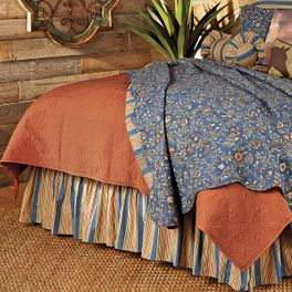 Terracotta Matelasse Quilt Collection
