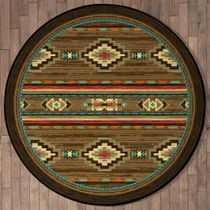Frontier Outpost Rug - 8 Ft. Round