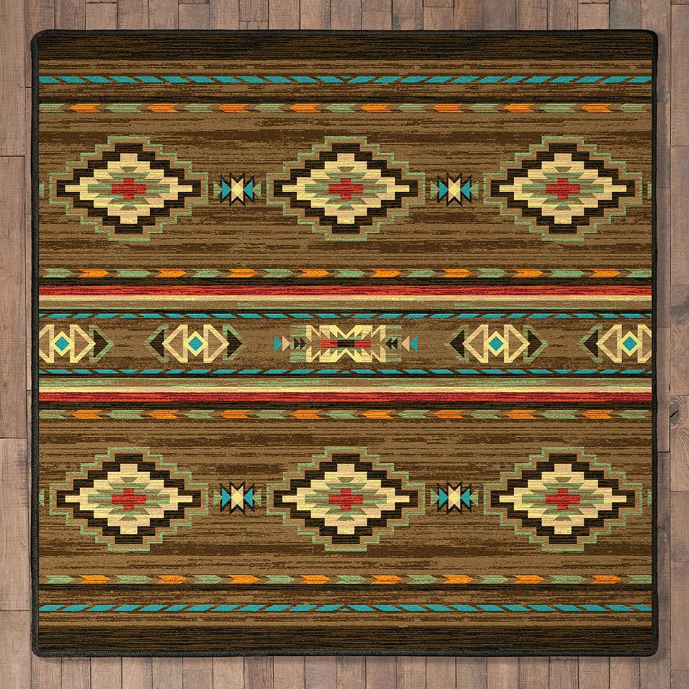 Frontier Outpost Rug - 8 Ft. Square