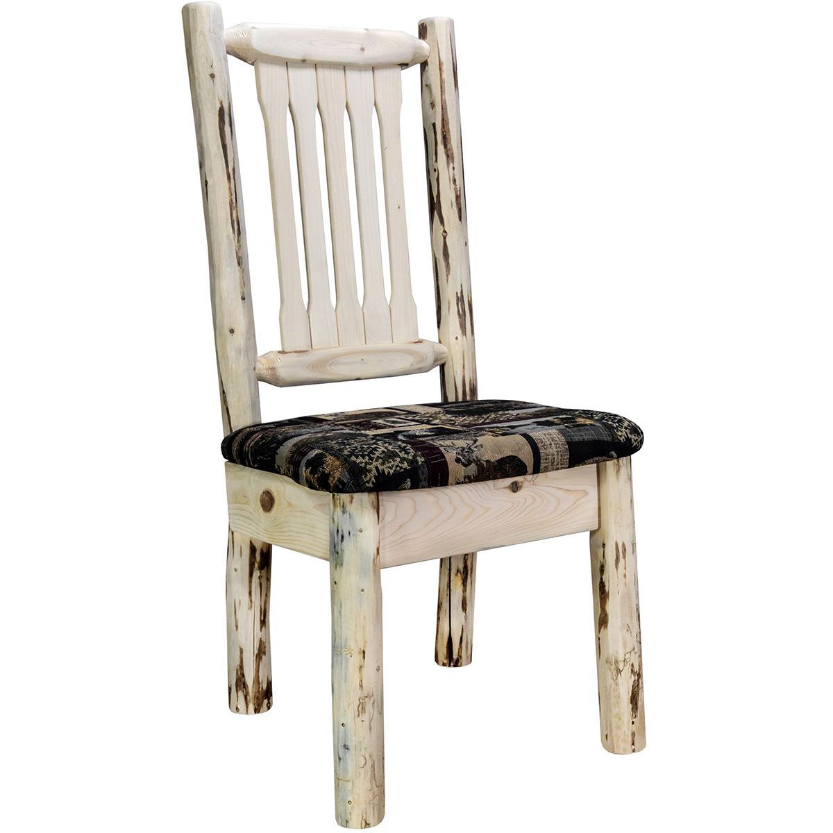 Frontier Side Chair with Woodland Upholstered Seat