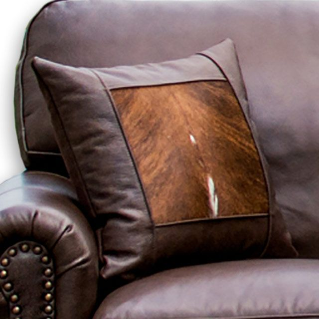 Frontier Untouchable Bandwagon Hair On Hide Throw Pillow