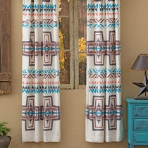 Frost Canyon Cross Lined Drapes