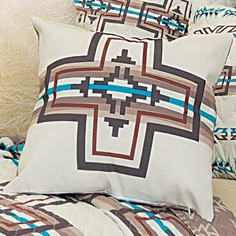 Frost Canyon Cross Pillow