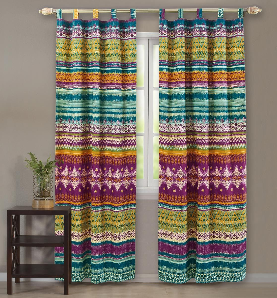 Fuchsia Tribal Drapes