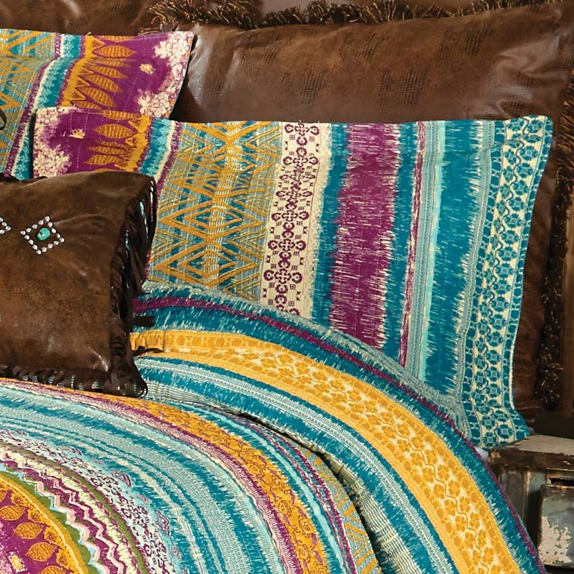 Fuchsia Tribal King Sham