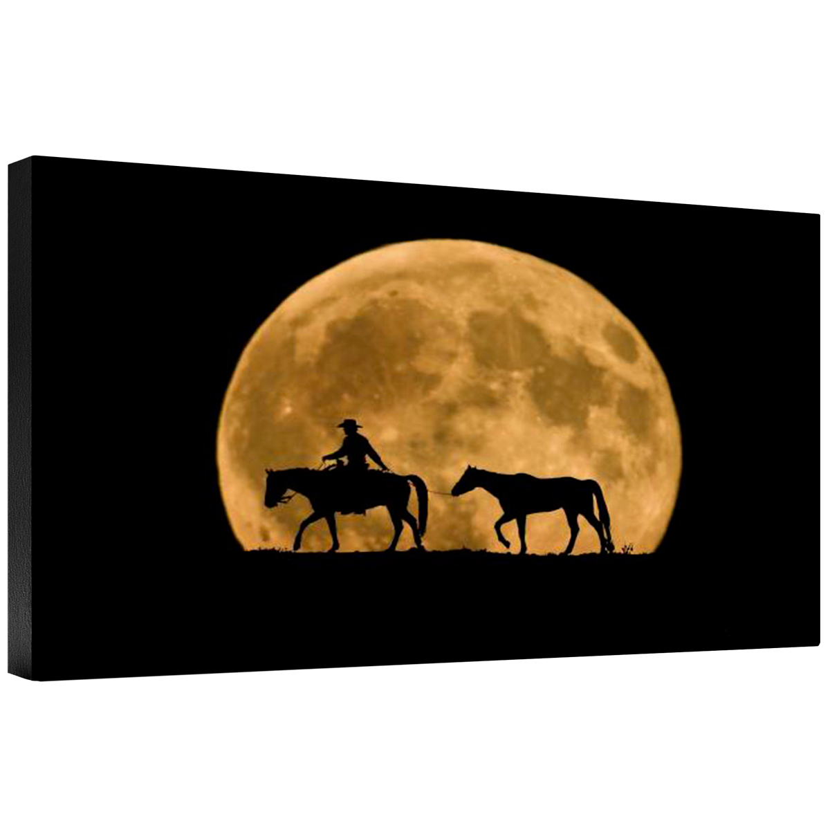 Full Moon Ride Gallery Wrapped Canvas