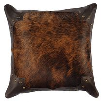 Gallop Brindle Pillow with Fabric Back