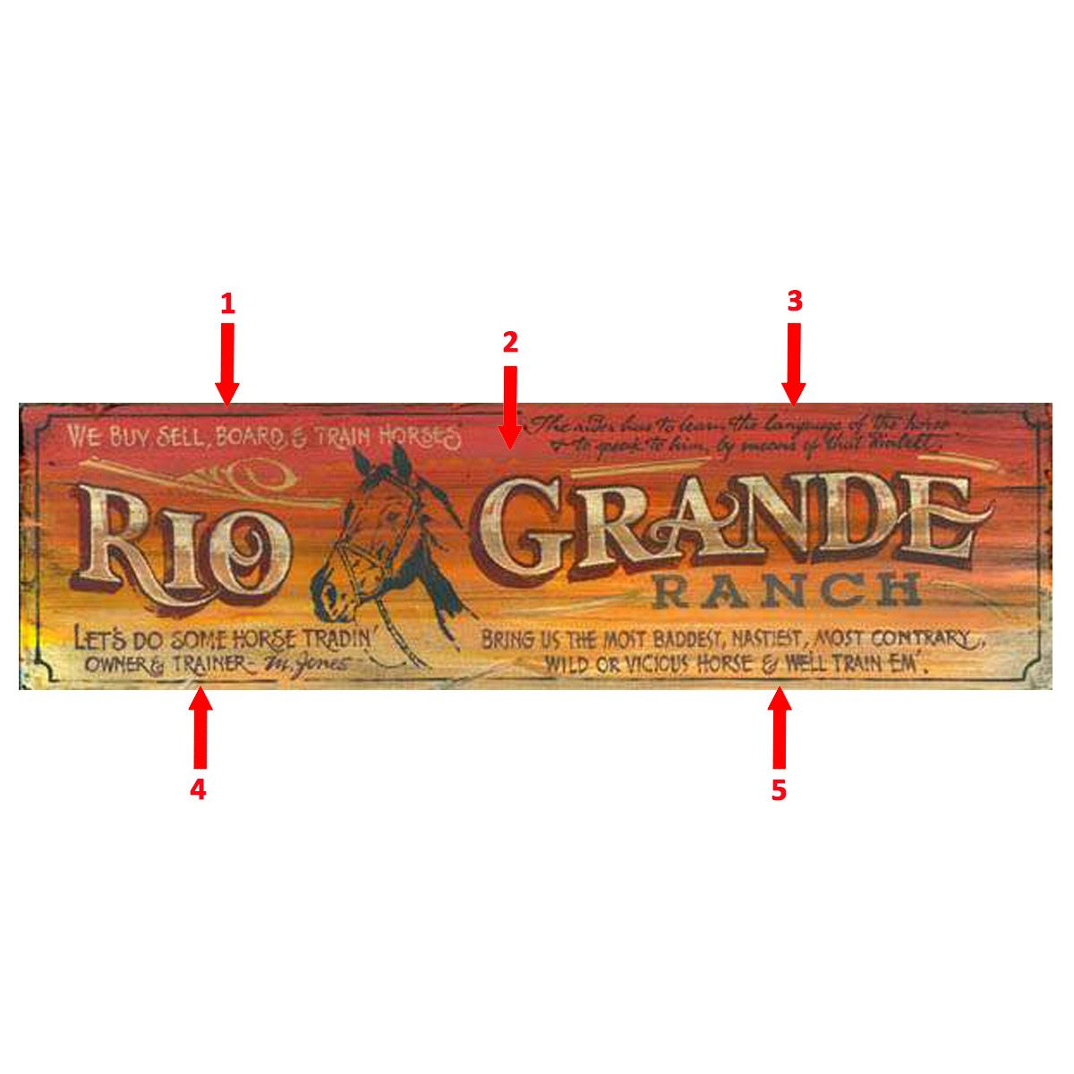 Galloping Canyon Personalized Sign
