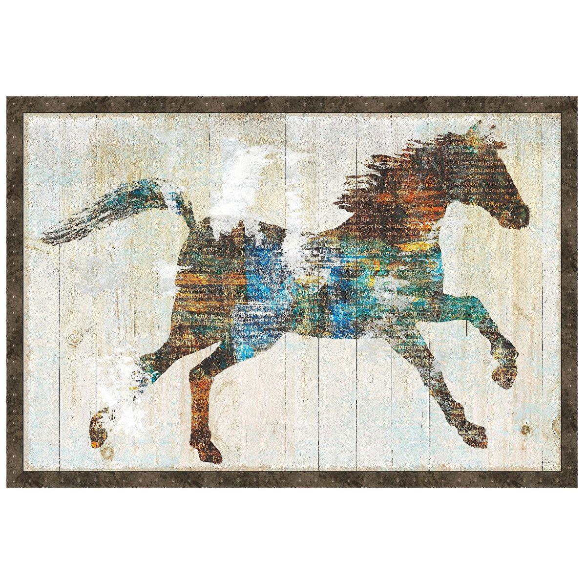 Galloping Colors Canvas Art