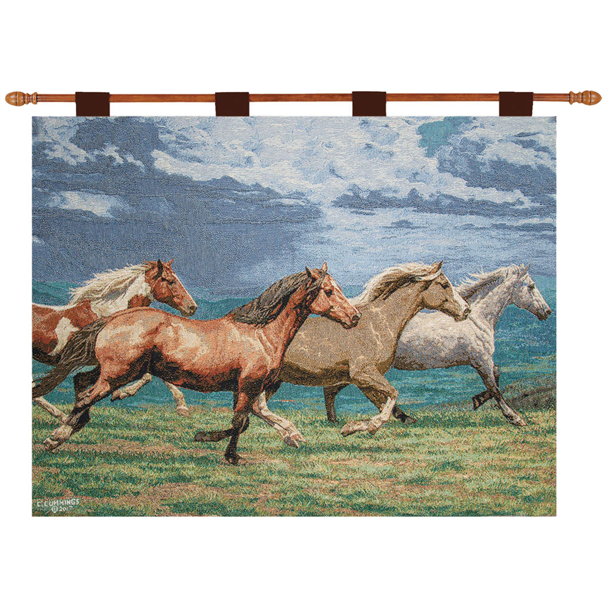 Galloping Spirits Tapestry Wall Art