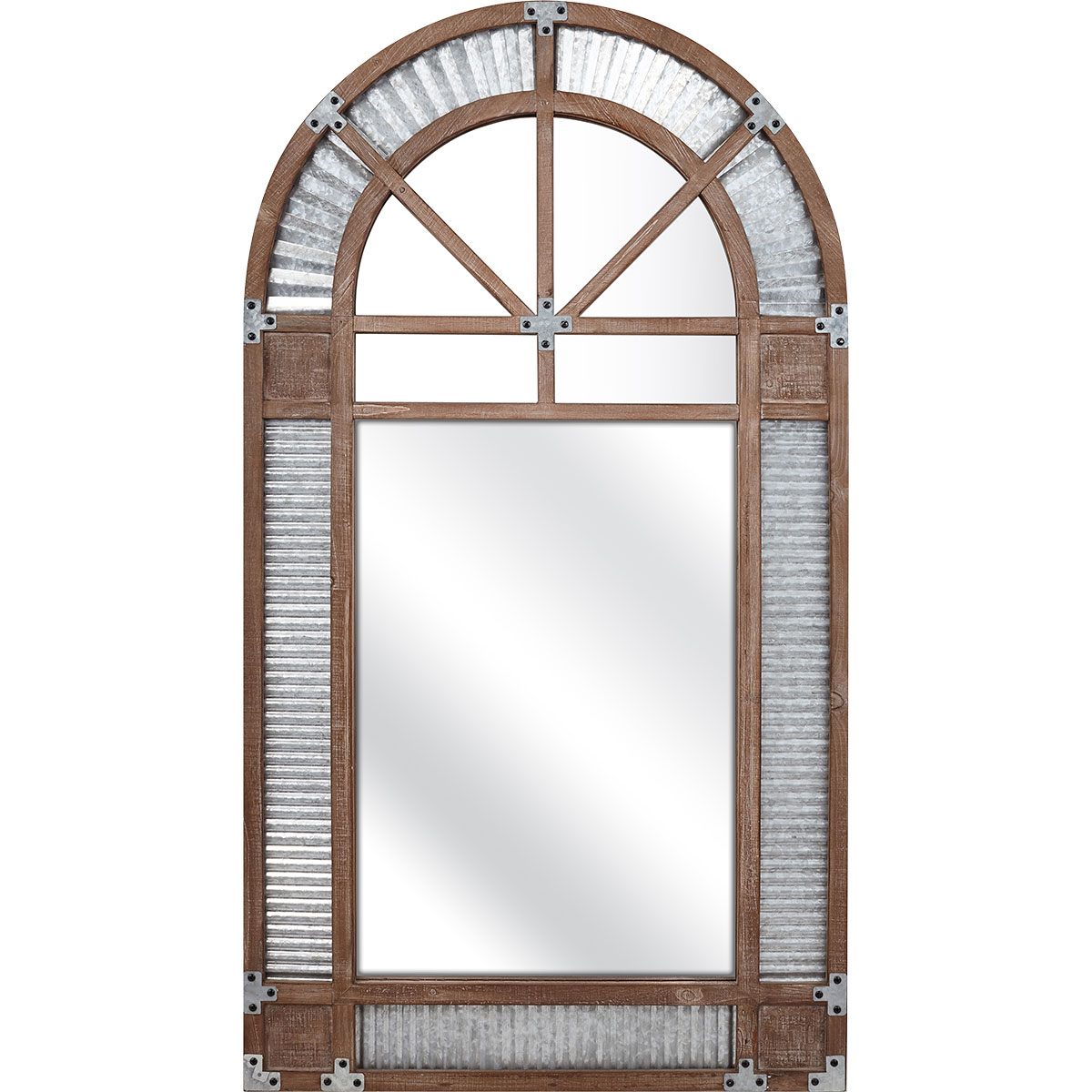 Galvanized Frame Mirror