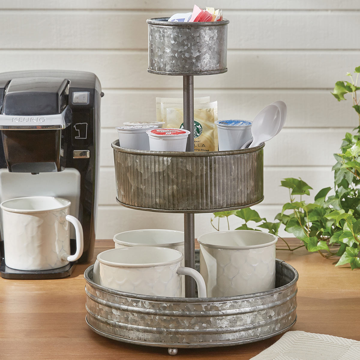 Galvanized Iron 3 Tier Organizer