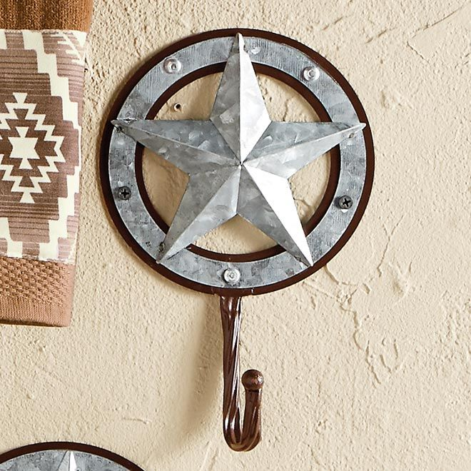 Galvanized Star Hook