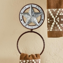 Galvanized Star Towel Ring - CLEARANCE
