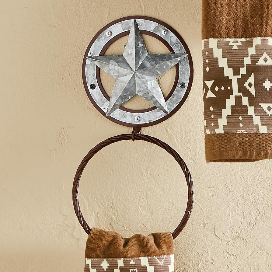 Galvanized Star Towel Ring