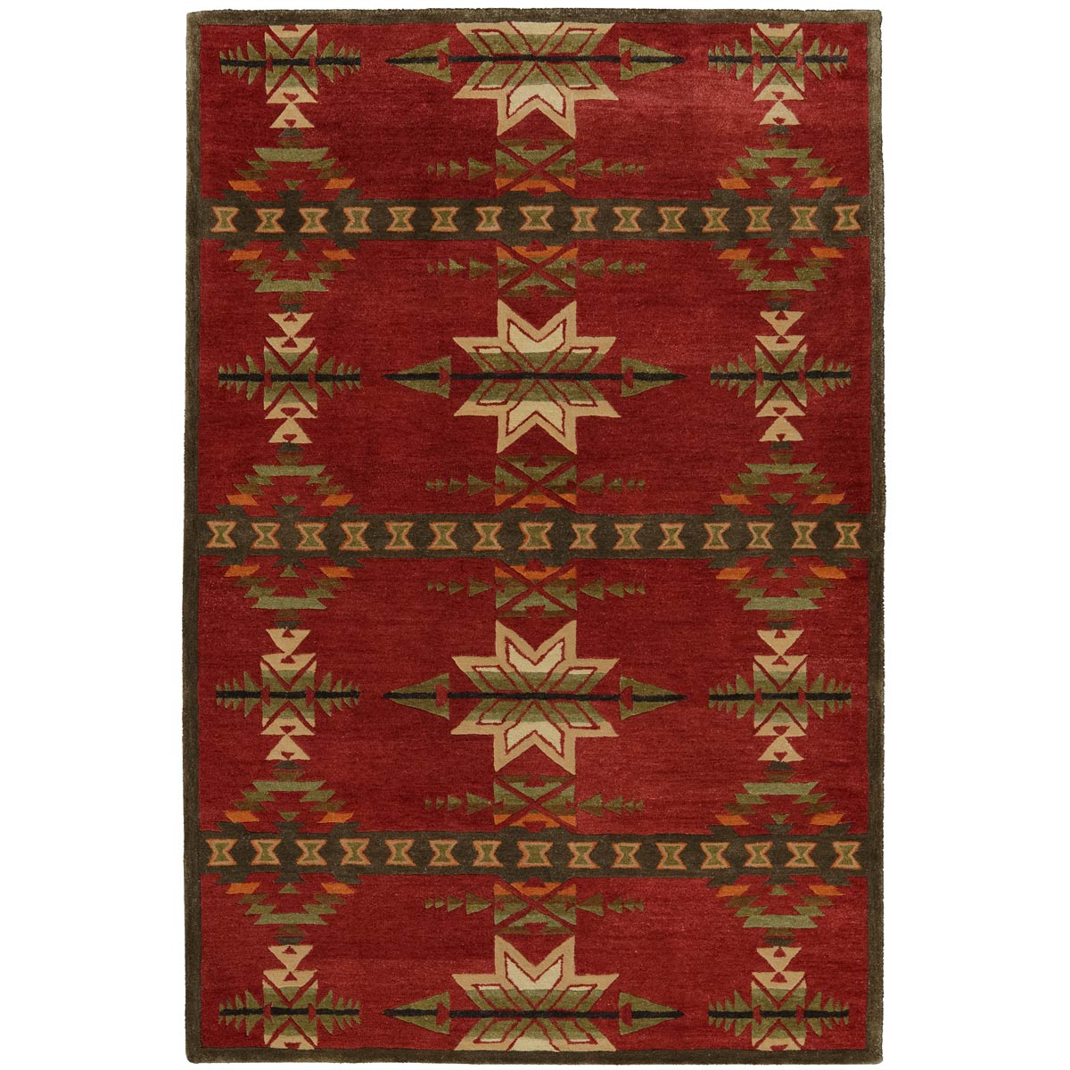 Gatekeeper Red Rug - 8 x 10