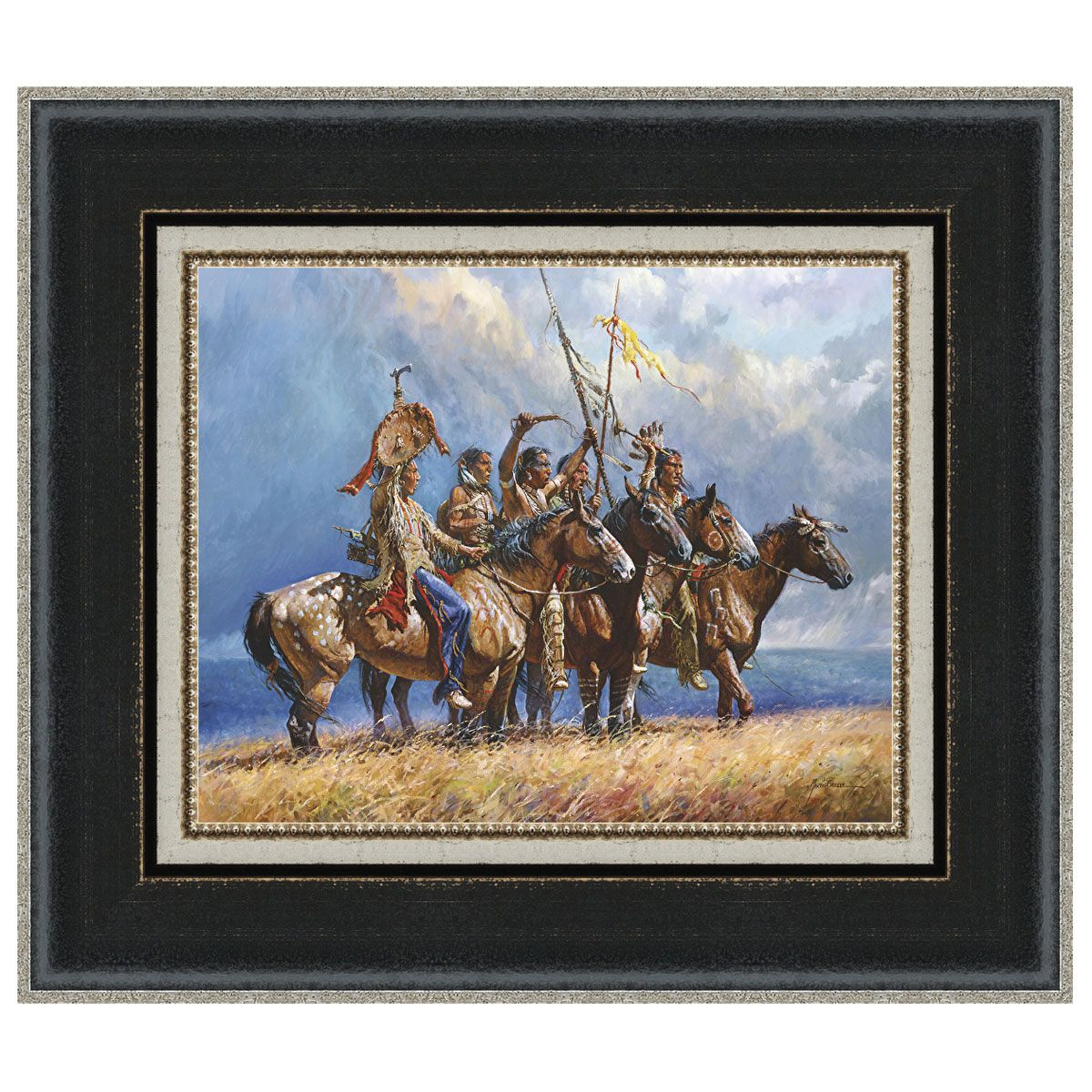 Gathering Storm Framed Canvas