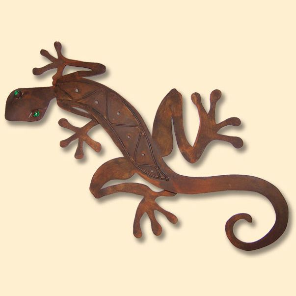 Gecko Rustic Metal Wall Art