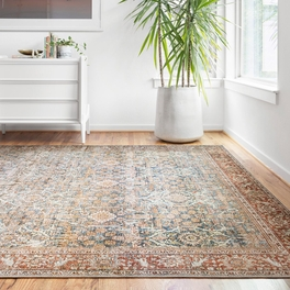 Genevieve Blue & Rust Rug Collection