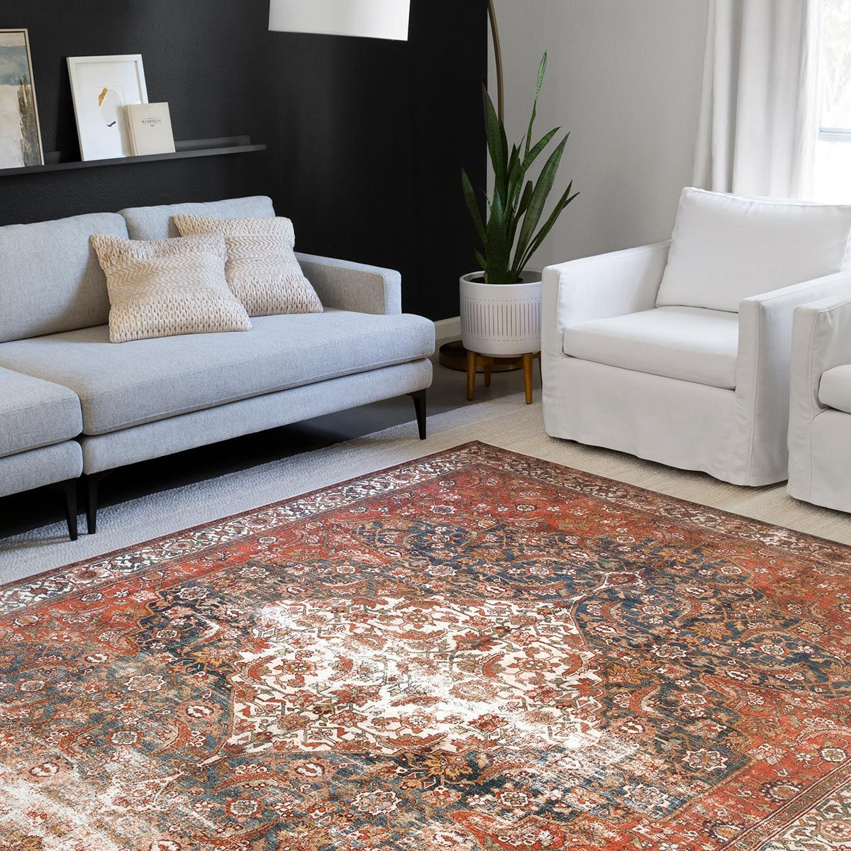 Genevieve Multi Rug - 2 Ft. Square