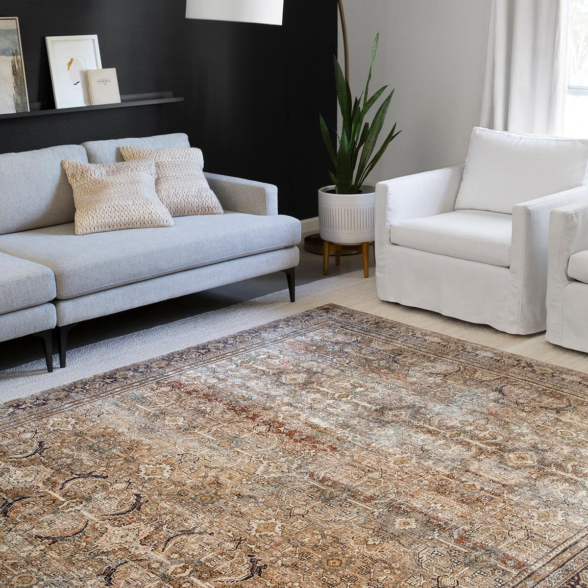 Genevieve Olive & Charcoal Rug - 2 x 5