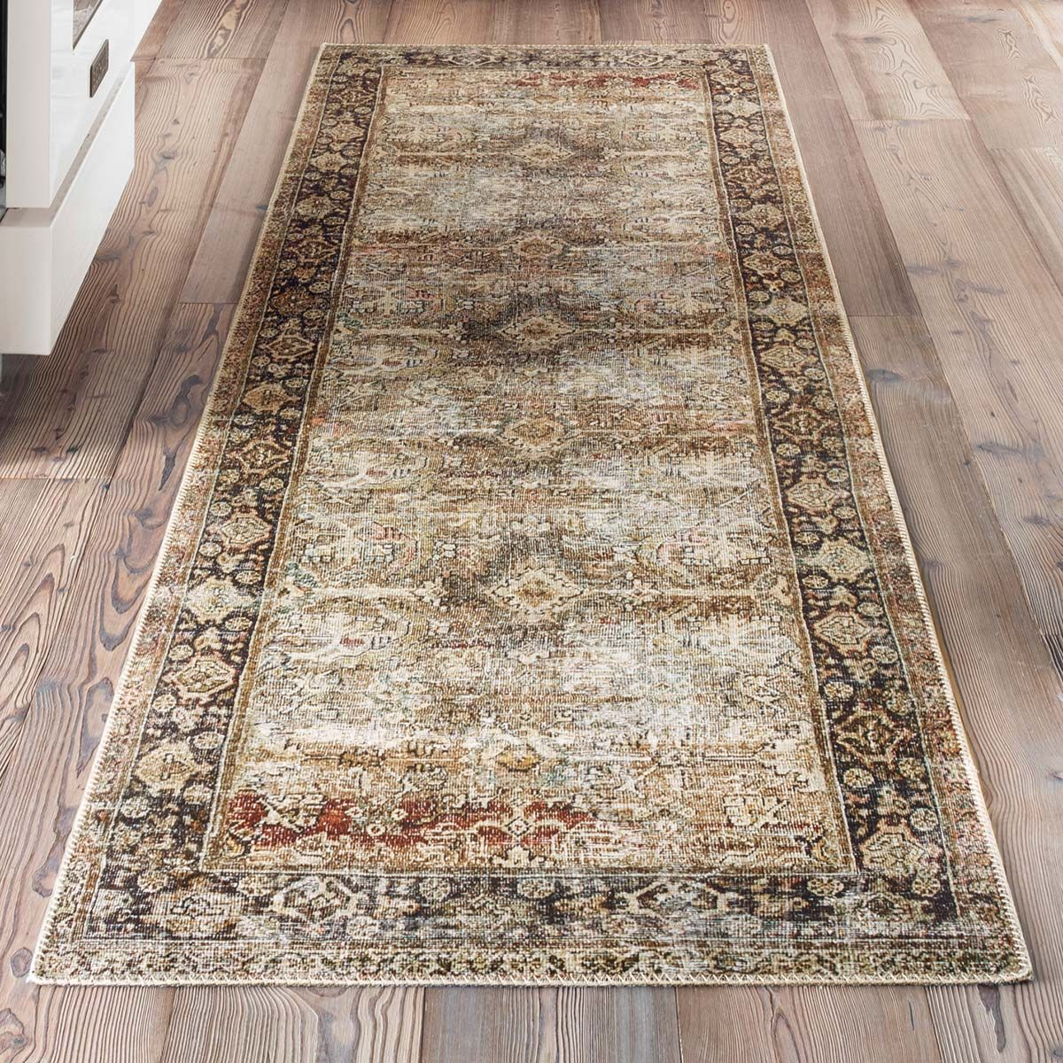 Genevieve Olive & Charcoal Rug - 3 x 8