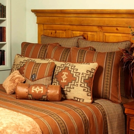 Genghis Rust Pillows and Shams