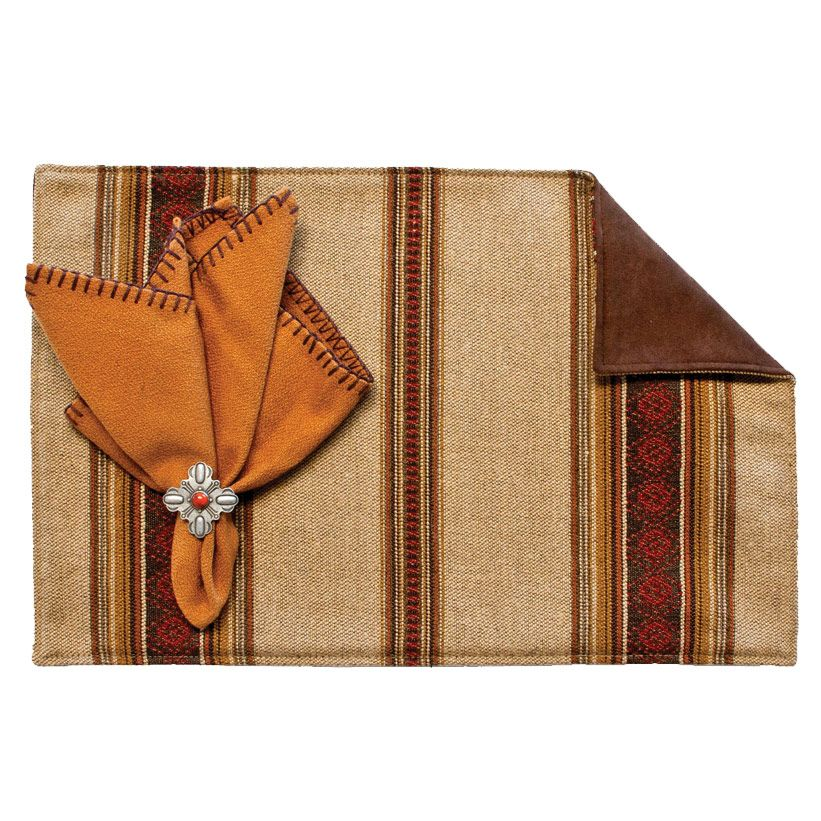 Genghis Walnut Placemats with Suave Chocolate - Set of 4