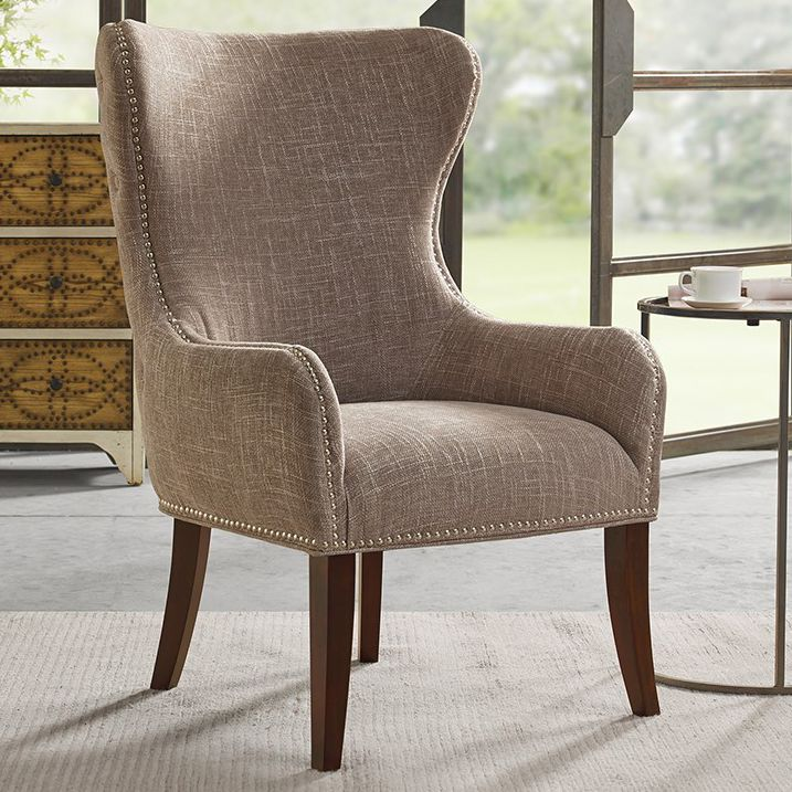 Geoffrey Button - Tufted Back Accent Chair - Camel
