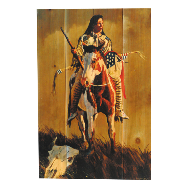 Ghost of the Plains Wood Wall Art