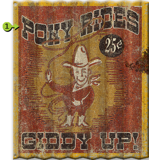 Giddy Up Personalized Corrugated Metal Sign