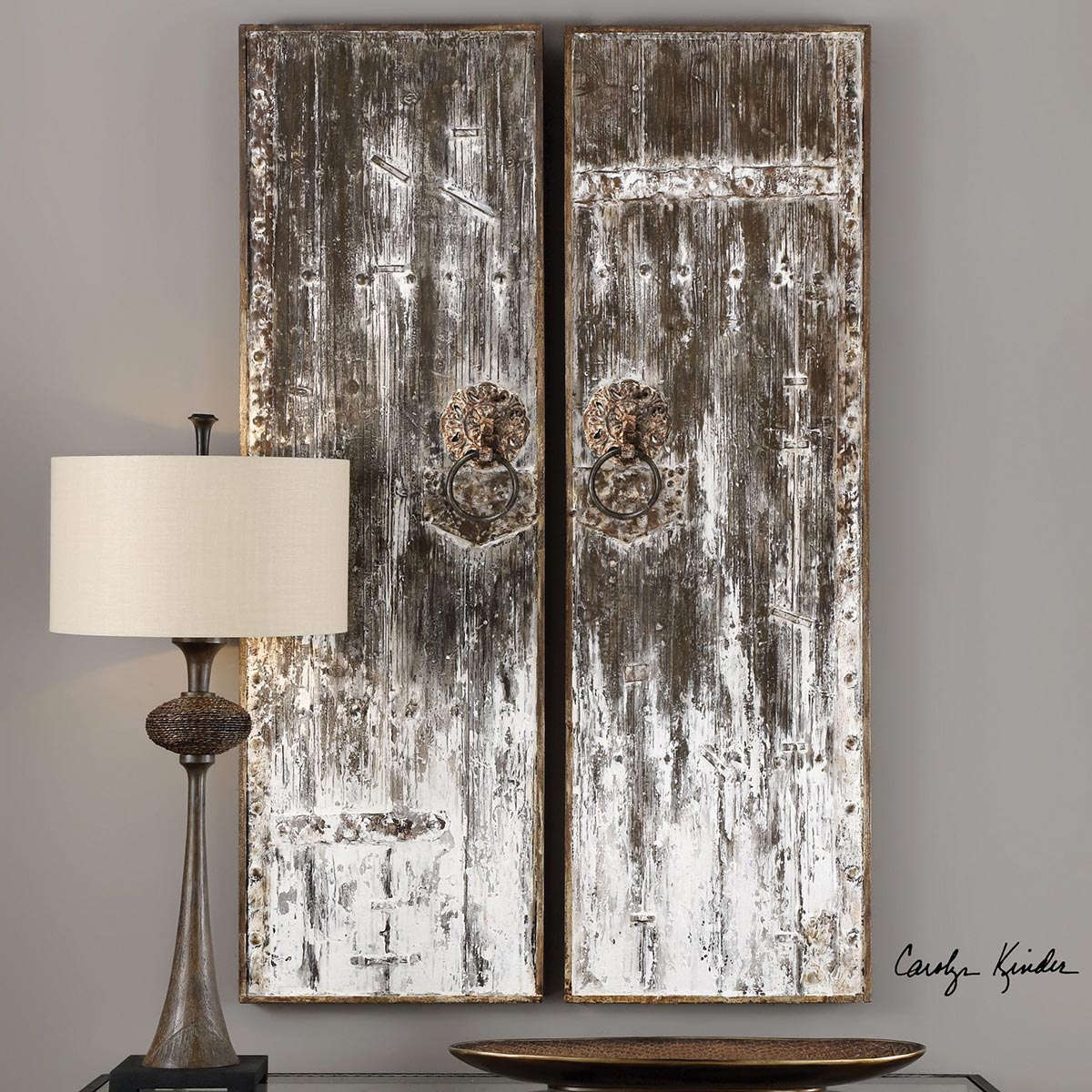 Giles Aged Wood Wall Art Set Of 2