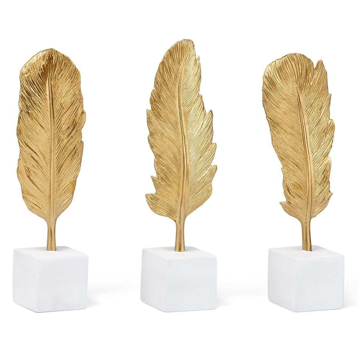 Gilt Feather Statuaries - Set of 3