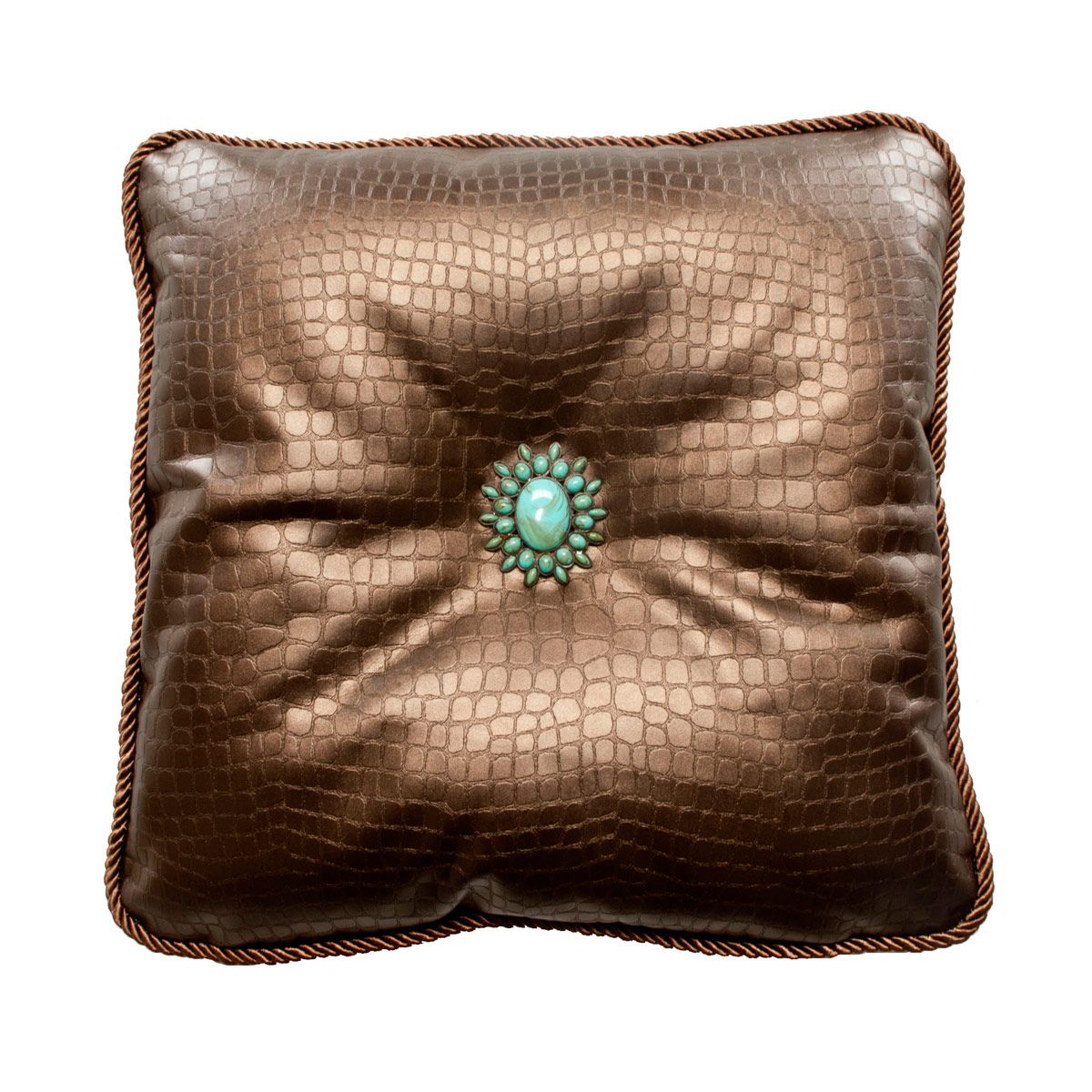 Glade Runner Bronze Accent Pillow