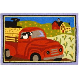 Going for a Ride Indoor/Outdoor Rug