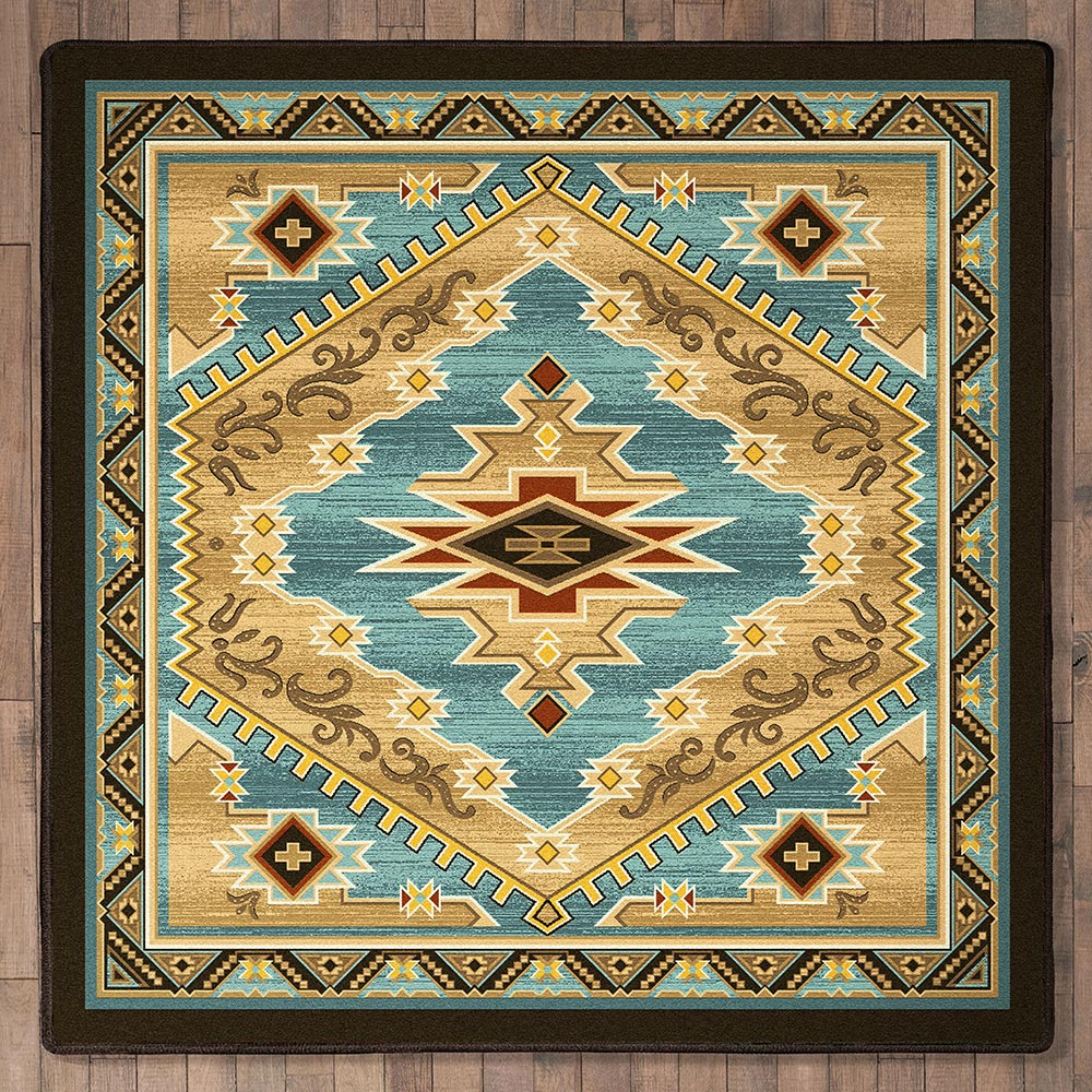 Gold Rush Canyon Rug - 8 Ft. Square