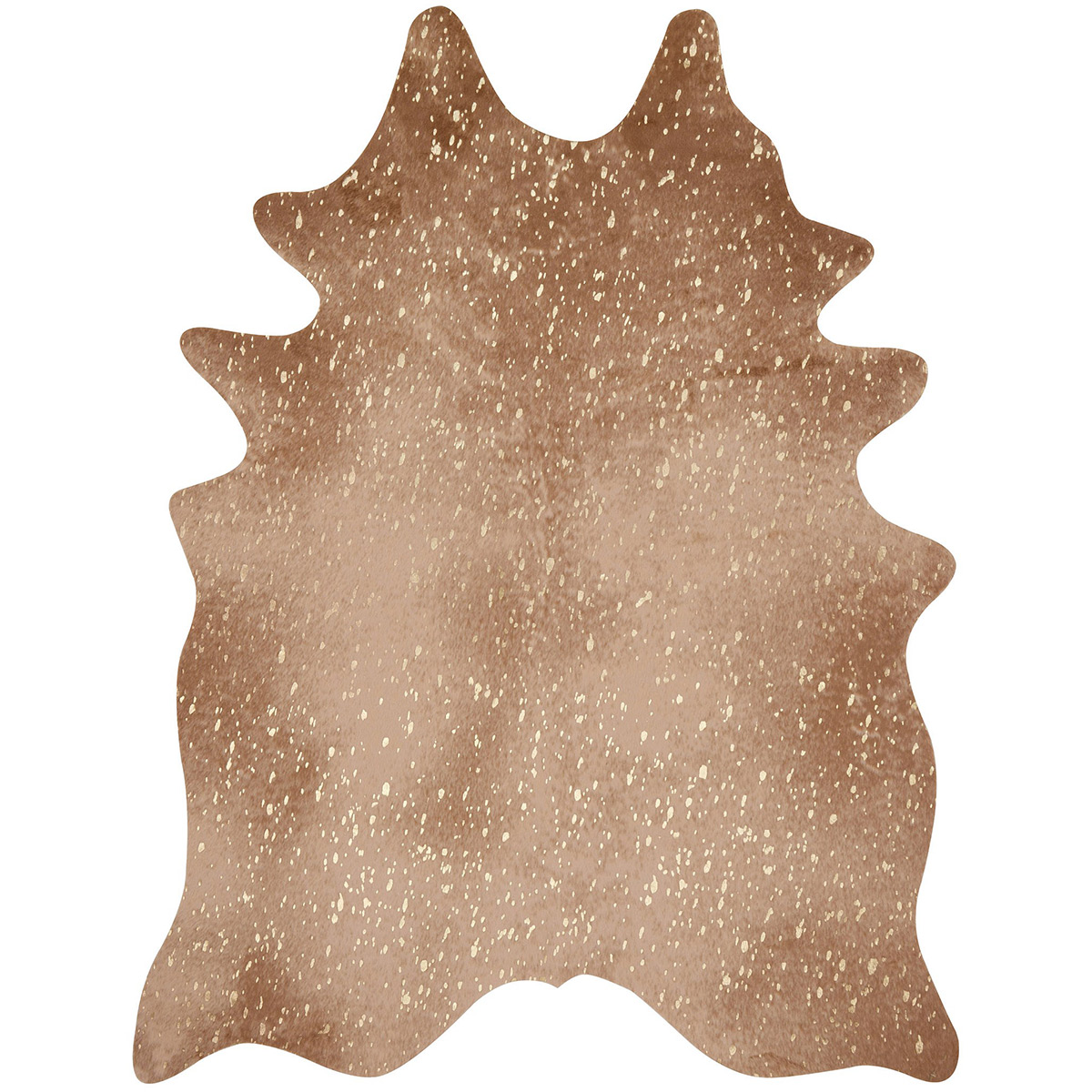 Golden Sand Faux Cowhide Rug - 4 x 5
