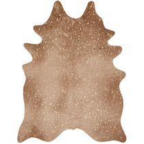 Golden Sand Faux Cowhide Rug - 5 x 7