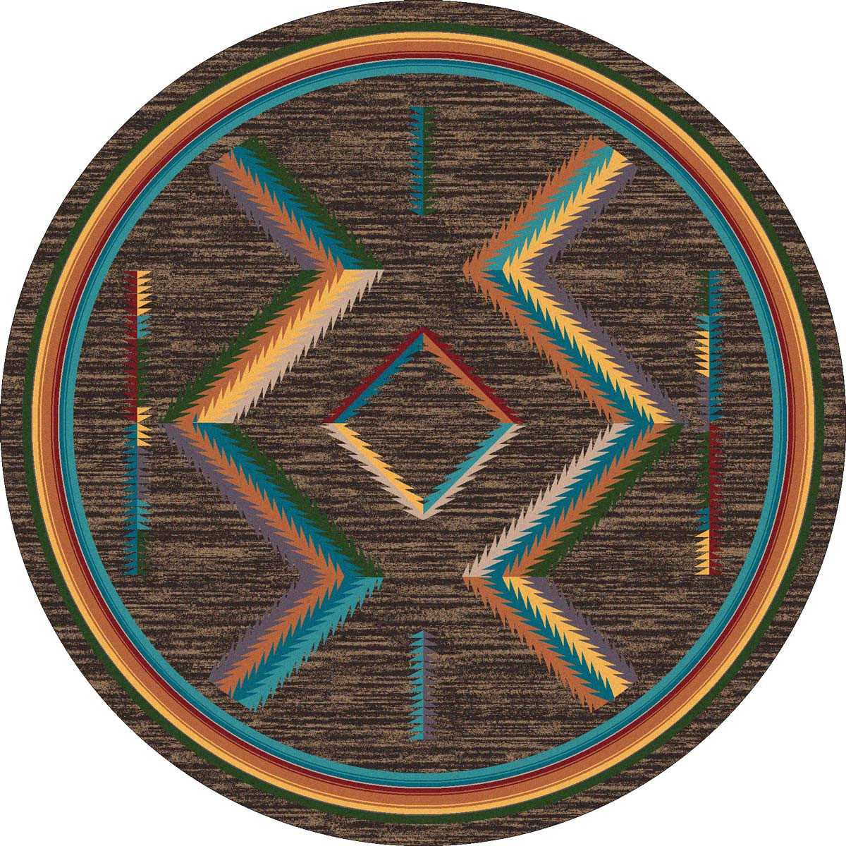 Grand Canyon Bright Rug - 8 Ft. Round