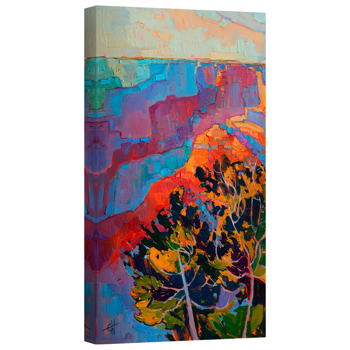 Grand Sunset Left Mirror Wrapped Canvas