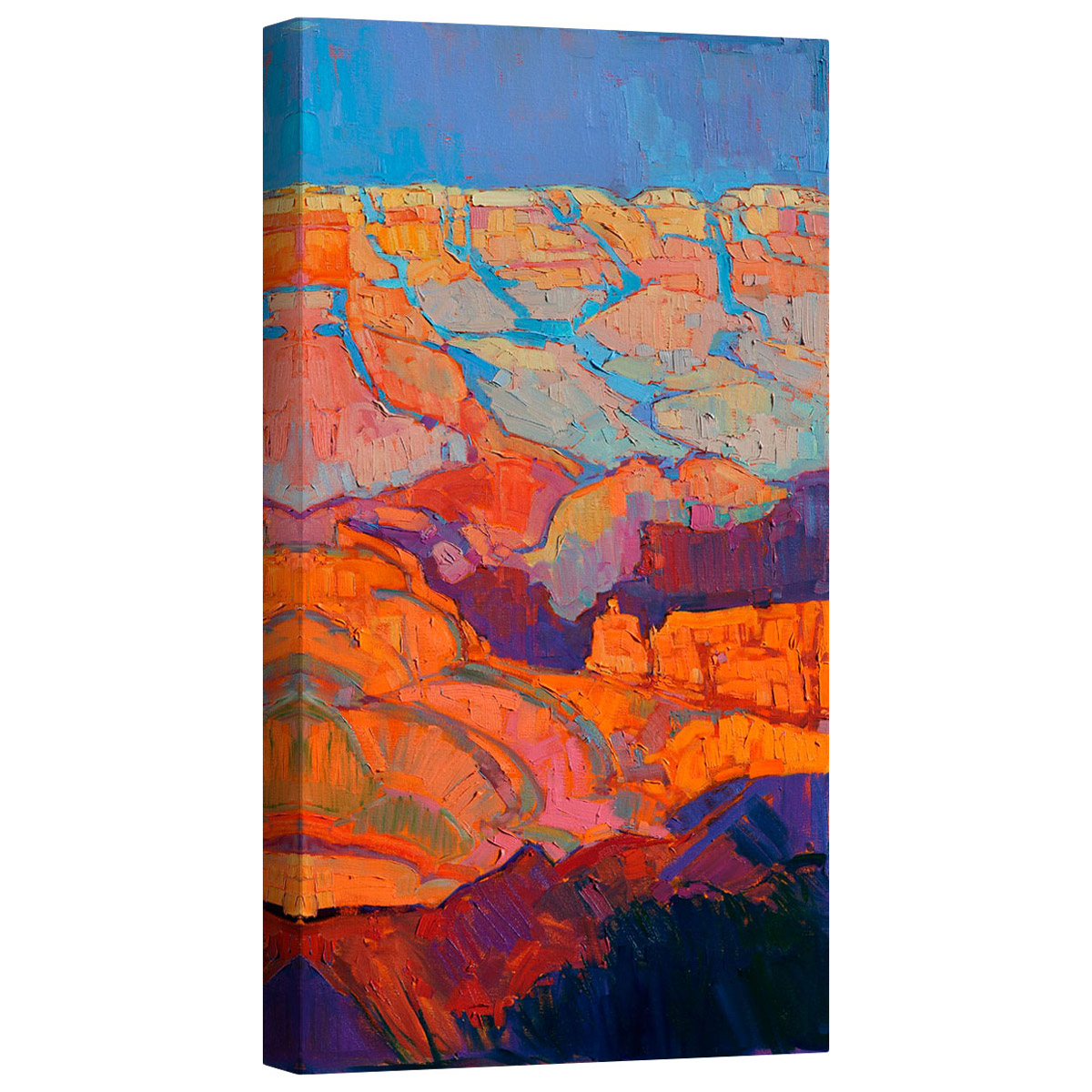 Grand Sunset Right Mirror Wrapped Canvas