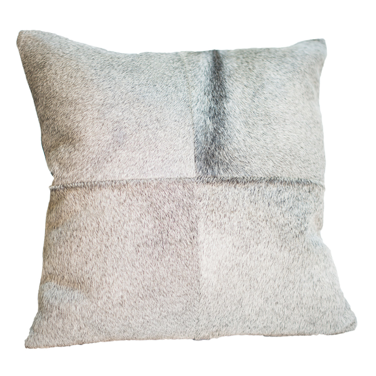 Gray Cowhide Pillow