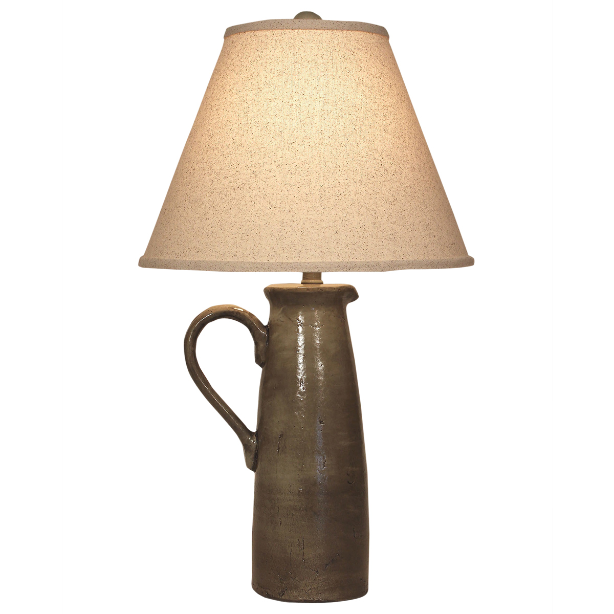 Gray Handled Pitcher Table Lamp