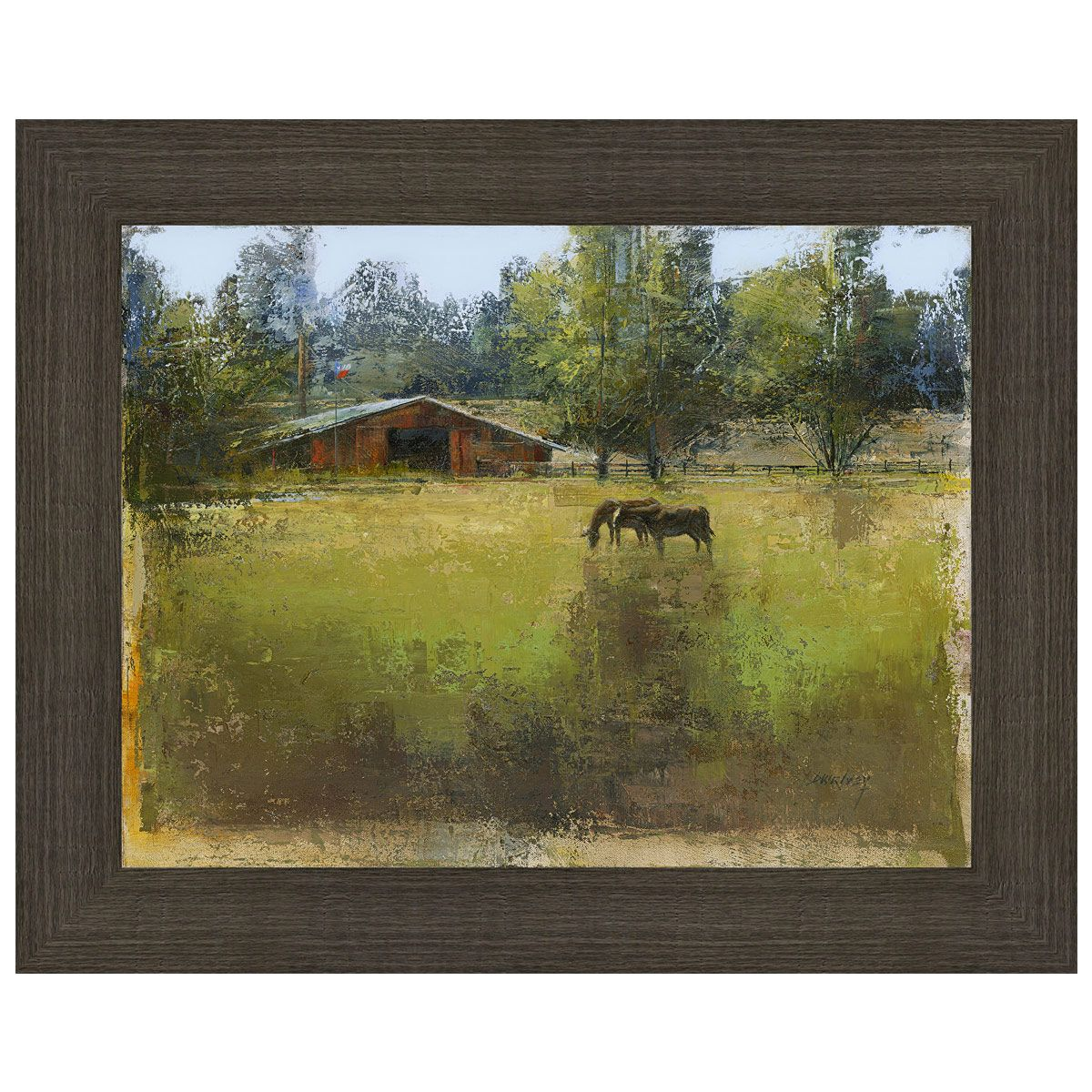 Grazing Horses Wall Art