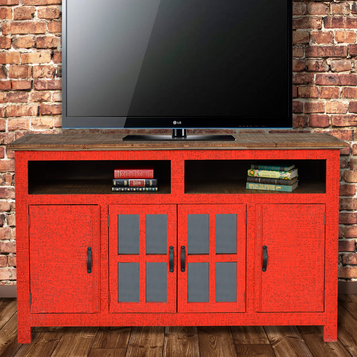 Hacienda TV Stand - Red